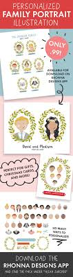 diy personalized family illustrations zurcher co he i of 5