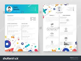 Resume Background Image Personal Resume Vector Template Illustration Abstract Stock Vector