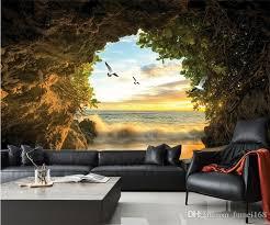 Sho Natur custom 3d photo wallpaper cave nature landscape tv background wall