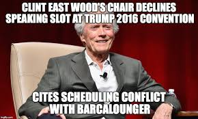 Clint Eastwood Chair Meme - republican chair a no show imgflip