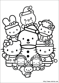 Noel Hello Kitty Coloriages La Fate Kitty Coloring Games With