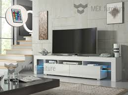 modern tv unit cabinet stand white matt and white high gloss free