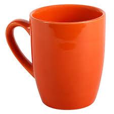 bulk orange stoneware mugs 12 oz at dollartree