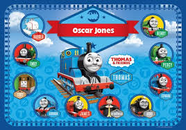 thomas tank engine personalised placemat