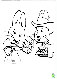 max and ruby coloring page dinokids org