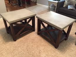 Rustic Wood Furniture Diy Ana White Concrete Top Rustic X End Tables Diy Projects