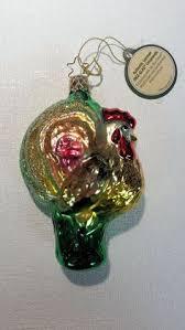 white silver fox inge glas german glass ornament nwt b9