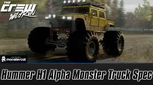 monster hummer the crew wild run hummer h1 alpha monster truck spec