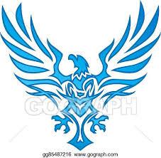 eagle tattoo clipart vector art blue flame eagle tattoo clipart drawing gg85487216