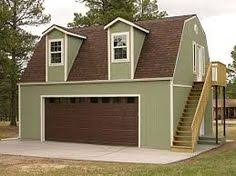 gambrel roof garages drive thru garage plan 050g 0021 for the home pinterest