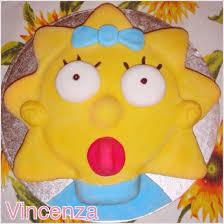 maggie simpson cake birthday simpsons