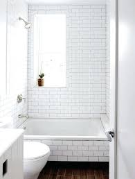 subway tile bathroom vanity backsplash half wall white gallery