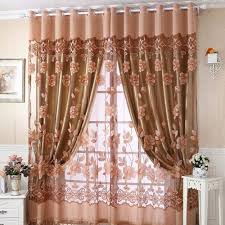 online shop 250cm 100cm flower curtain transparent window curtains