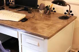 diy concrete table top concrete top desk home decorating trends diy concrete table top
