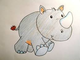 how to draw a cartoon character rhino easy way drawing youtube