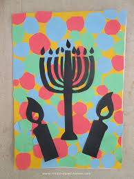 hanukkah craft for kids with cut paper silhouettes creative