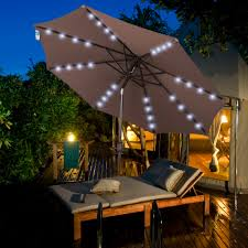 Patio Umbrellas With Led Lights by Sundale Outdoor Solar Powered 32 Led Lighted Outdoor Patio