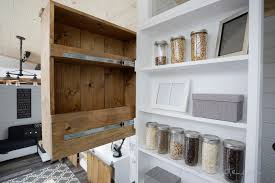 ana white slide out entry pantry cabinet for tiny house diy