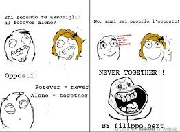 Together Alone Meme - si vedono le scritte meme by rosizzz2007 memedroid