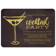cocktail party invitations retro martini