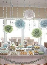 baby shower for boy baby shower ideas boy grey blue white balloon decoration with