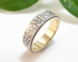 floral wedding band floral wedding band etsy