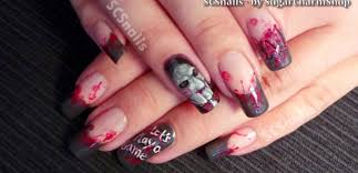 nails art video tutorial halloween nail art tutorial saw