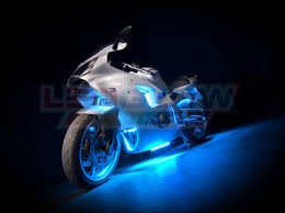ledglow blue classic led motorcycle light kit