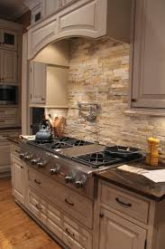 Stacked Stone Veneer Backsplash by Kitchen Aztec Stacked Stone Backsplash In Orlando Fl Kitchen Tu