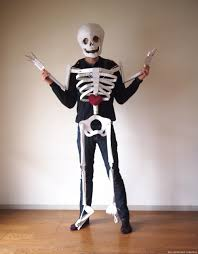 skeleton costume halloween city costume the cardboard collective