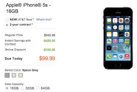 black friday deals iphone iphone 5s cheapest black friday deal on at u0026t happening today