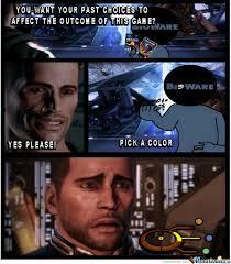 Funny Mass Effect Memes - mass effect 3 colors by simon cerezo 752 meme center