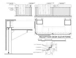 Reception Desk Designs Drawings