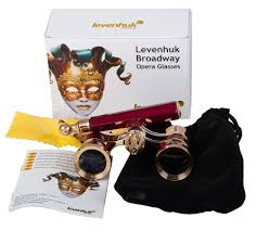 buy levenhuk broadway 325n opera glasses red lorgnette with led