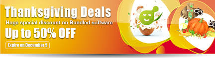 thanksgiving discount from aunsoft get bundled software at 35