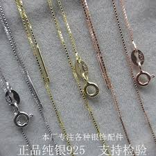 box chain necklace silver images 925 sterling silver box chain rose gold wire chain necklace 3pcs jpg