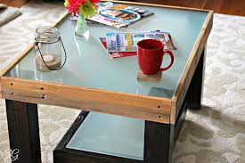 frosted glass coffee table diy coffee table