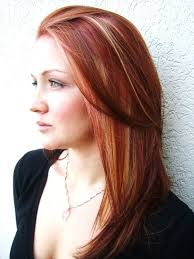 shades of high lights and low lights on layered shaggy medium length silver streaks in red hair google search hair pinterest red