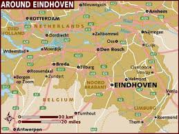 netherlands beaches map map of eindhoven