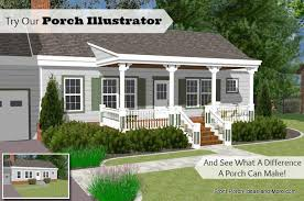 ranch homes with front porches front porch designs illustrator on a basic ranch home design