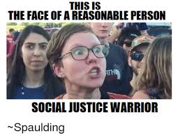 Social Justice Warrior Meme - this is the face of a reasonable person social justice warrior