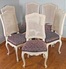 six louis xv style cane backed dining chairs ebth