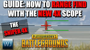pubg 4x guide guide how to range find with the new 4x scope the sniper 4x in