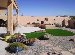 Desert Landscape Ideas For Backyards A Small Garden Landscape Design Of Curve Round Grass With Pebbles