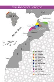 Map Of Morocco And Spain by A Wine Map Of Morocco With 14 Aogs And 1 Aoc Wines From Morocco