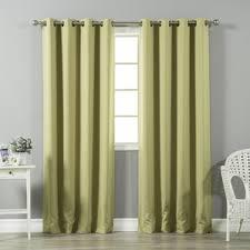 Green Grommet Curtains Green Curtains U0026 Drapes You U0027ll Love Wayfair