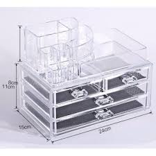 sinma 3 layers clear acrylic cosmetic drawers makeup jewelry