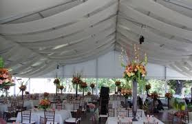 tent draping ceiling draping site to side panels touch chairs