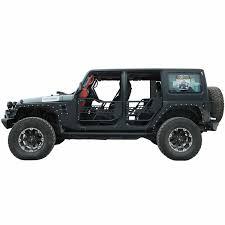 safari jeep 07 16 jeep wrangler jk 4dr tubular safari doors w mirror