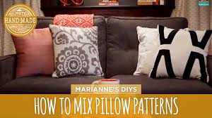 How To Mix And Match Throw Pillows Hgtv Handmade Youtube